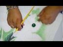 Pintando fondo y hojas de amapolas video 1.