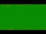 Free Hearts green screen _ Футаж Сердечки хромакей рамка _ Efeitos Chroma Key CO