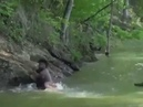 Man Saves His Friend From Crocodile With Slam Dunk