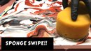 Fluid Painting Sponge Swipe? Very Simple Beginner Technique for Swiping!! Please Share and Subscribe