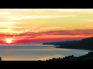 Сочи, Лазаревский район - Панорама заката над морем с Орлиной сопки