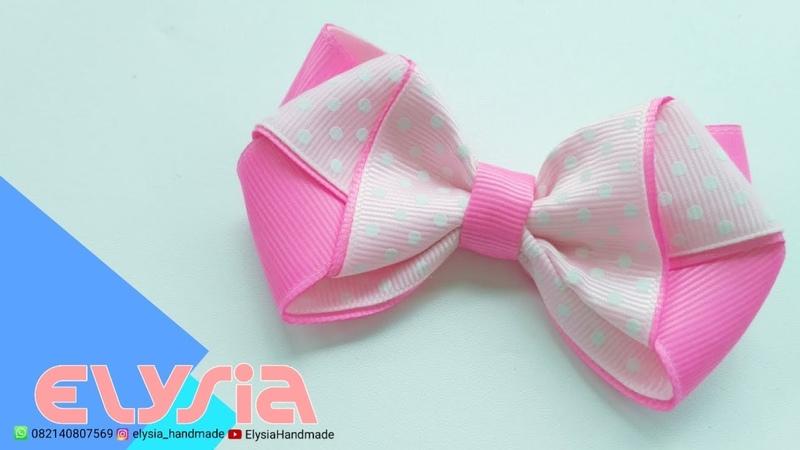Laço Minnie Grosgrain Ribbon 2 5 cm 🎀 Ribbon Bow 🎀 DIY by Elysia Handmade