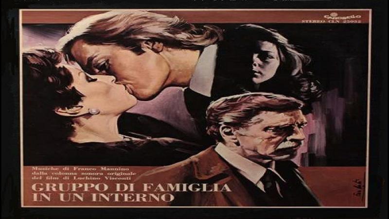 1974 Luchino Visconti Gruppo di famiglia in un interno Burt Lancaster Helmut Berger Silvana Mangano Claudia Cardinale