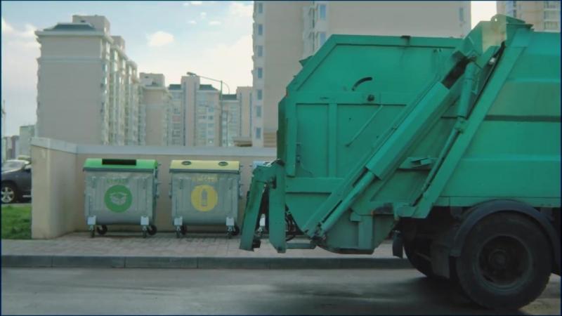 Еноты на мусоровозе Социальная реклама