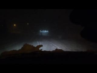Снежная гроза в Ньиредьхазе ( Венгрия, 17.03.2018)
