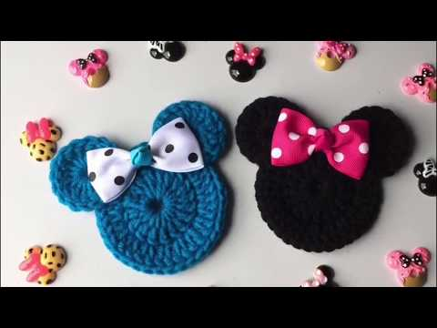 Cara de Minnie Mouse tejida a crochet