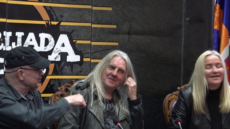 Saxon Press Conference at Gitarijada festival Biff Byford and Paul Quinn