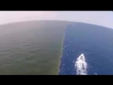 Удивительный факт, два моря, которые не смешиваются. Two seas that do not mix.