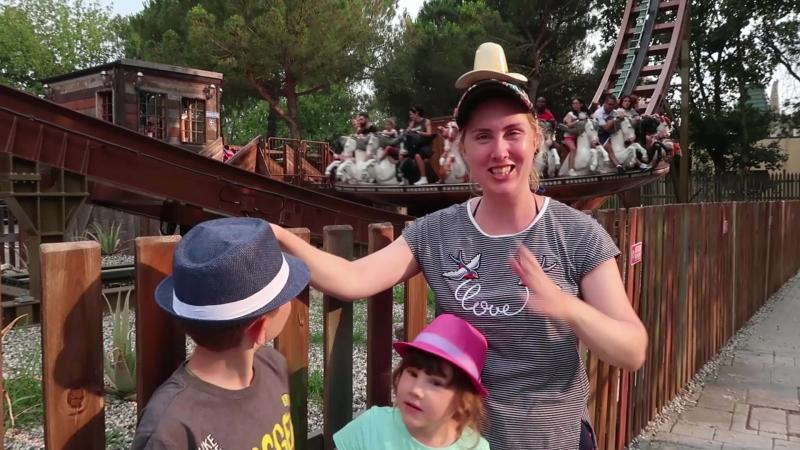 МАМА впала в ДЕТСТВО, а ДЕТИ учатся ВОДИТЬ в парке МИРАБИЛАНДИЯ /День 2