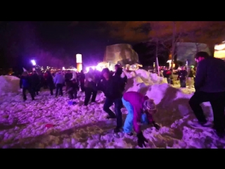 Worlds Largest Snowball Fight - Contour Cameras - Snow Day