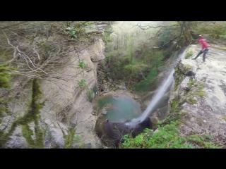Абхазия прыжки на тарзанке Тенгиз Тарба