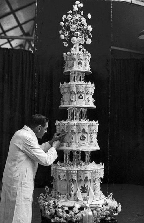 Свадебный торт королевы Елизаветы II, 1947 год.