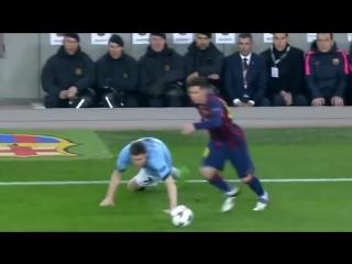 Leo Messi Nutmeg (Panna) vs Milner + Guardiola Reaction
