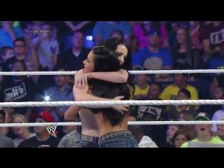 Paige  AJ Lee vs Summer Rae  Layla El