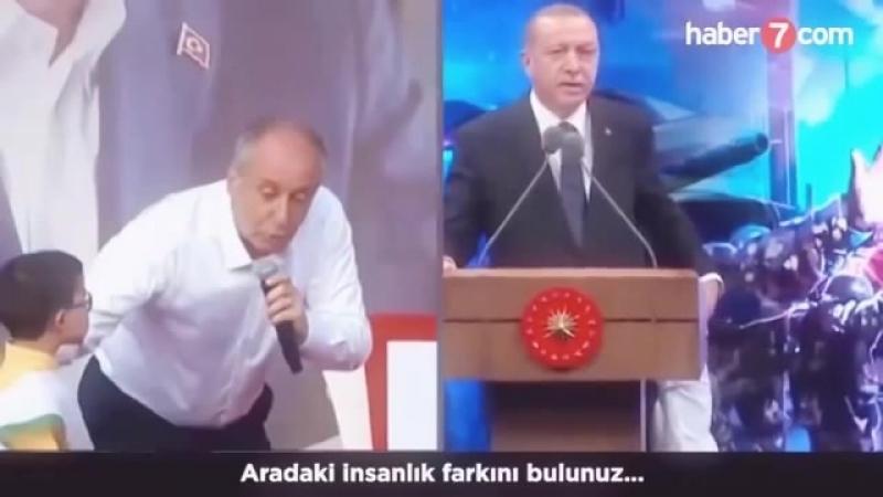 Erdoğan ve Muharrem arasındaki İnsanlık Farkı