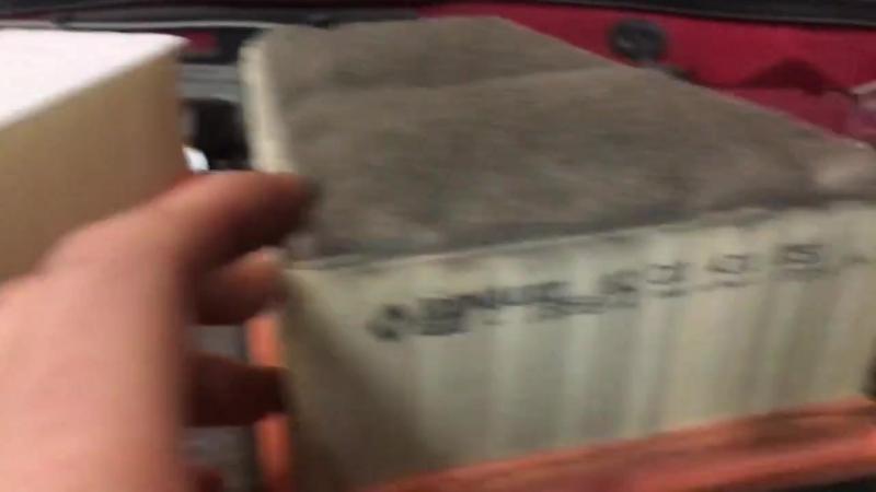 Поменяли воздушный фильтр на Ладу Ларгус