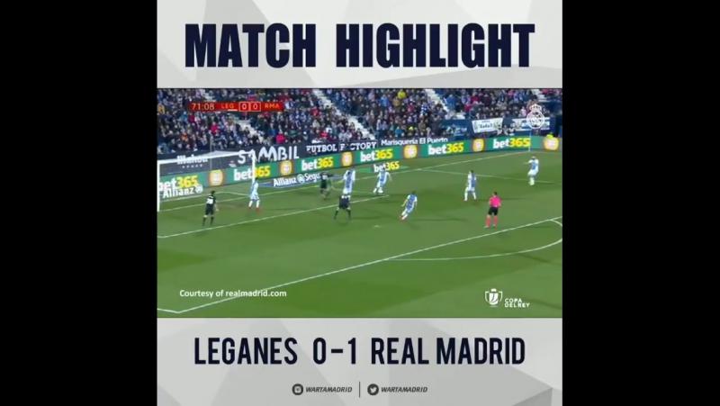 MATCH HIGHLIGHT Leganés vs Real Madrid Copa del Rey Quarter Final @REALMADRID @SPORT SOCCER FOOTBALL @MARCOASENSIO