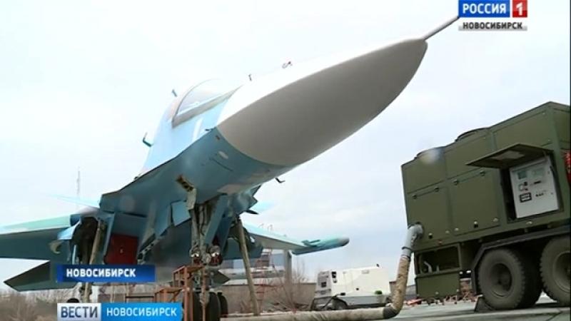 Летные испытания еще пары Су-34 перед госприемкой.