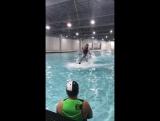Тренировка на вейкборде на Хелоуин
