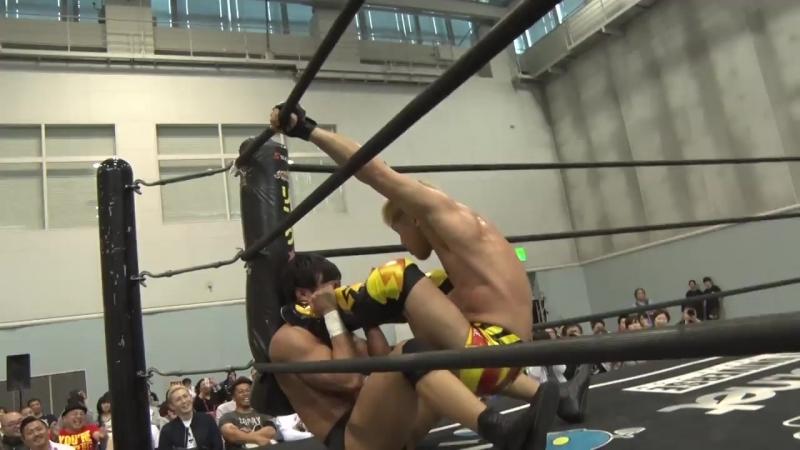 HARASHIMA Yuki Ueno vs Keisuke Okuda Naomi Yoshimura DDT Road to Ryogoku 2018 ~ Dramatic Dream Tekone Sushi