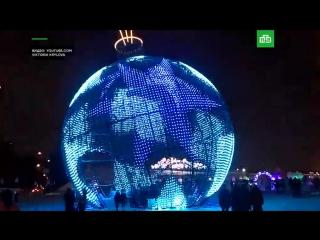 Самый большой в мире новогодний шар в Москве
