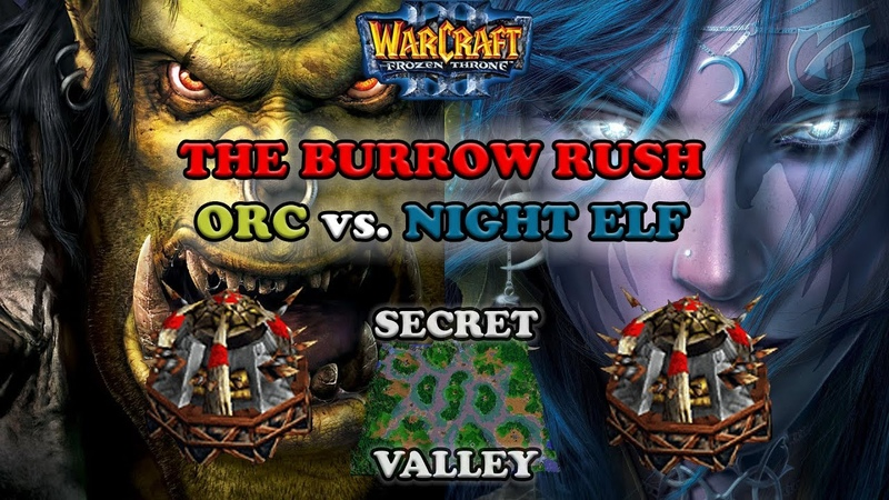 Grubby | Warcraft 3 The Frozen Throne | Orc v. NE - Burrow Rush on Secret Valley