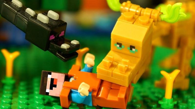 Мультики про Лего НУБика в Майнкрафте - LEGO Minecraft Анимация и Мультфильмы для Детей Игрушки DIY
