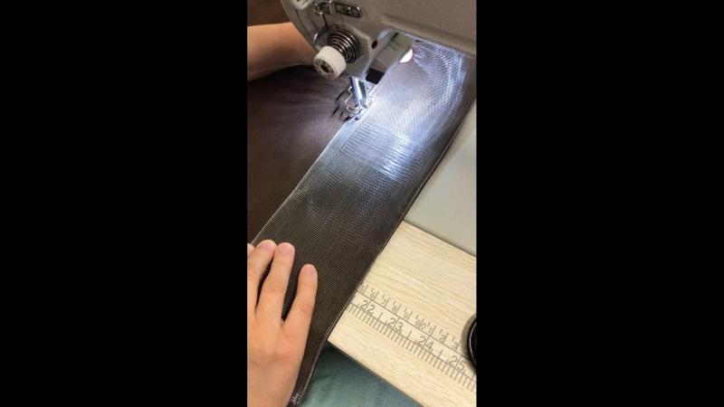 Пошив ленты в трубу