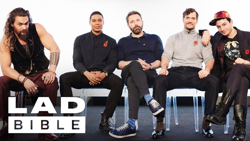 Justice Leagues Jason Momoa, Ben Affleck, Henry Cavill, Ezra Miller and Ray Fisher Jam Together