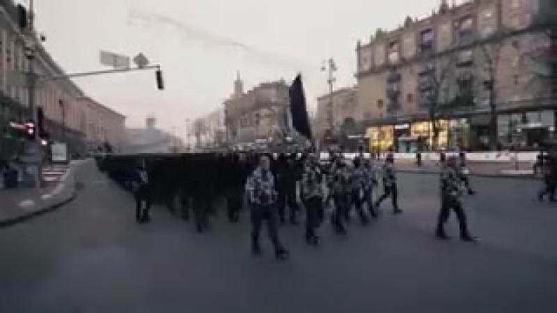 Это не SS marschiert mit ruhig festem Schritt времен Рейха Это нынешняя Украина