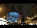 Рождественское светопреставление на фасаде Базилики Святого Стефана