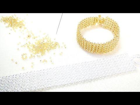 丸小ビーズだけで作るブレスレット① アクセサリーの作り方 11/0 Seed bead1