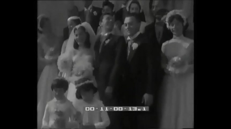 Anna Maria Pierangeli's and Vic Damone's wedding. Pier Angeli, Marisa Pavan, Patrizia Pierangeli