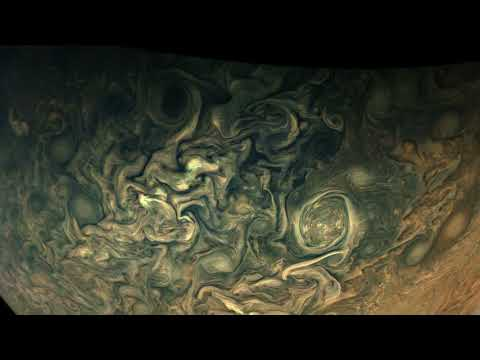 Juno's Perijove-13 Jupiter Flyby, Reconstructed in 125-Fold Time-Lapse