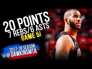 Chris Paul Full Highlights 2018 WCF Game 5 Warriors vs Houston Rockets - 20-7-6! | FreeDawkins