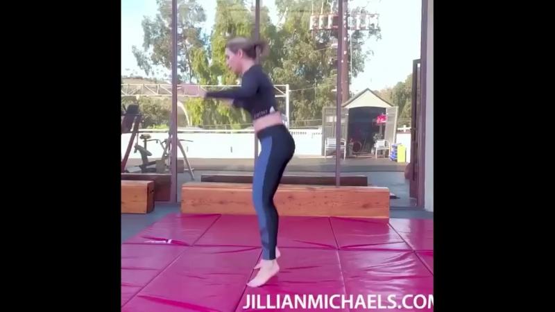 Мини-тренировка в стиле плиометрики от Джиллиан Майклс