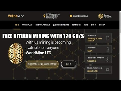 WorldMine Fast Bitcoin Cloud Mining With 120 GH S Earn 6 22 to 9 11% No Investment