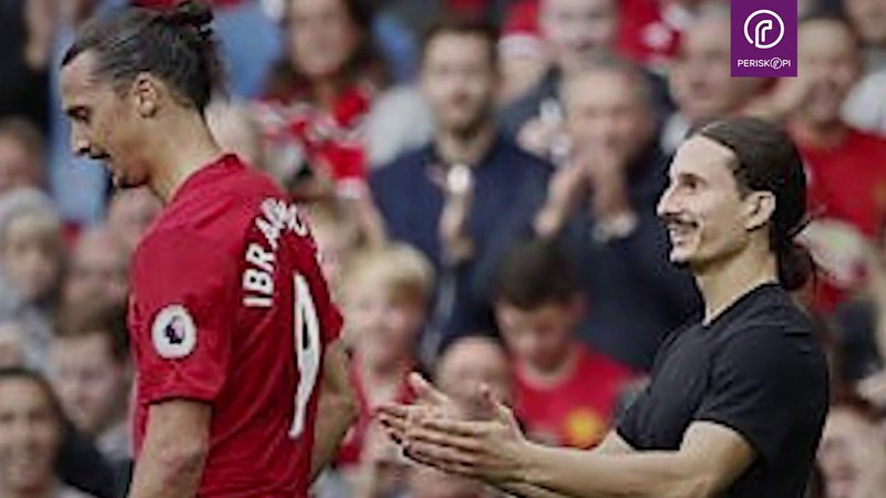 Ibrahimovic reaction when he meets his doppelganger