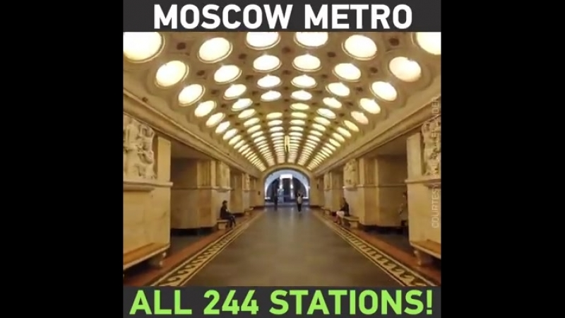 Take a blitz tour through ALL of Moscow's 244 AMAZING metro stations (up until end of 2016) in just 3 minutes!
