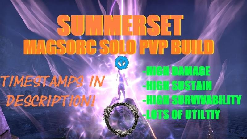 Magicka Sorcerer Solo PVP Build - ESO Summerset