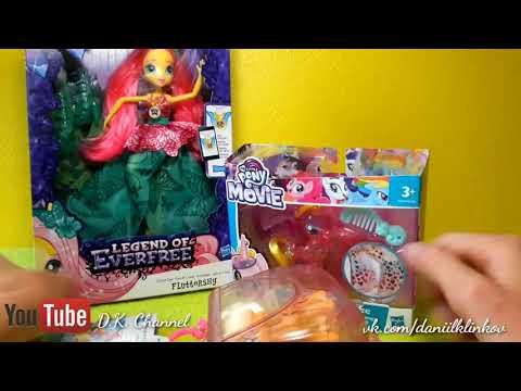 Обзор на 2 пони (Applejack and Princess Cadance) и куклу Fluttershy Crystal gala Equestria girls 💚