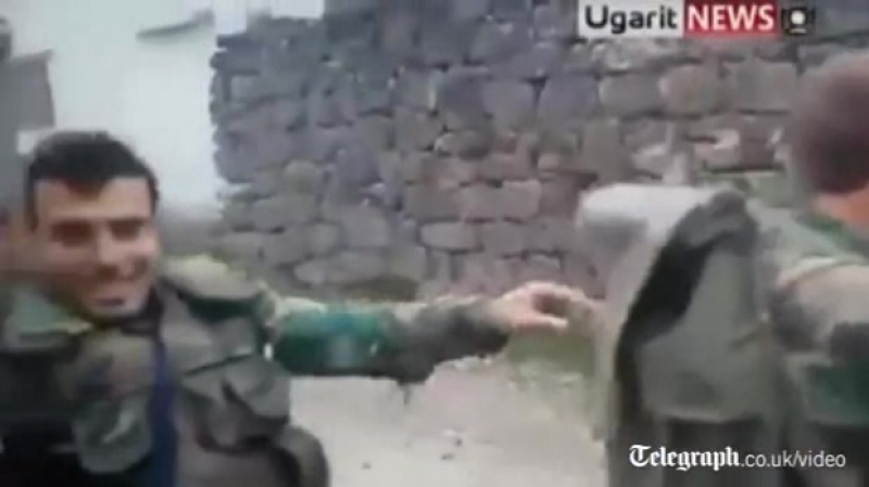 Syrian soldiers filmed dancing to Usher.mp4