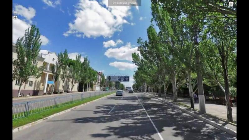 Timelapse Lugansk _ Луганск полминуты через весь город