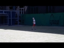 Удар слева большой теннис в Краснодаре на корте Аня 6 лет
