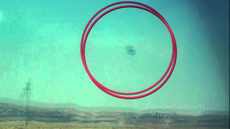 Tourist Films A UFO From A Bus In Nevada By Area 51