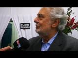 Пласидо Доминго интервью телеканалу ADN после концерта в Сантьяго 15 января.
