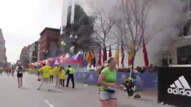 Русские туристы во время теракта в Бостоне))