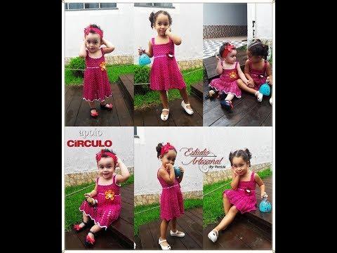 Vestido Allice em croche idade de 7 meses a 1 ano e meio parte 1