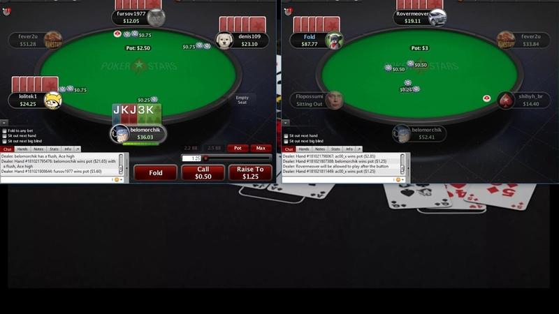 Omaha 5card PLO25 Pokerstars Омаха 5карт ПЛО25 часть 5