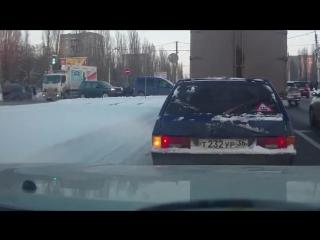 Воронеж. Момент ДТП у Линии
